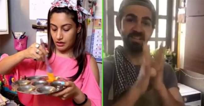 Surbhi and Karan V Grover are cooking together since they are at home, check out the pictures