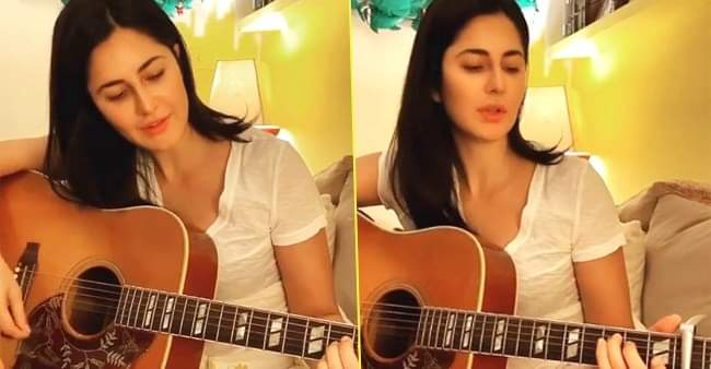 Katrina Kaif learns to play guitar, makes the most of her time at home