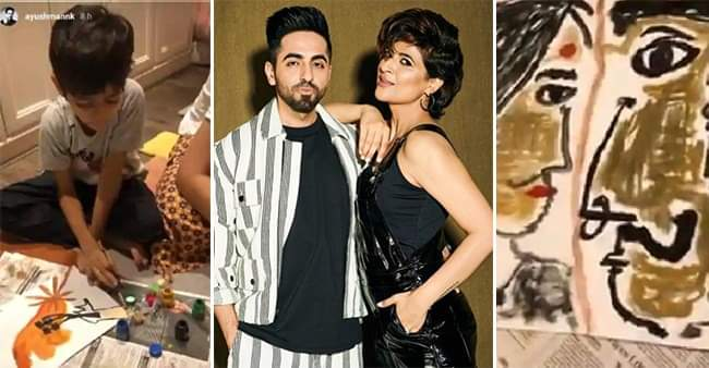 Ayushmann Khurrana and Tahira Kashyap are busy channelizing their inner artist with their kids