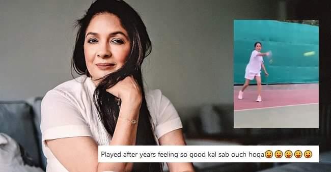 Shubh Mangal Zyada Saavdhan fame Neena Gupta plays tennis after years, shares video on Instagram