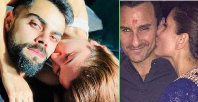 These B-town couples never shy away from PDA, check out the pictures