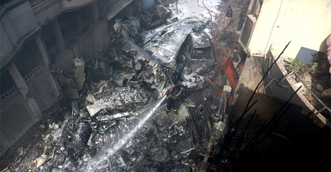 Pakistan plane crash: 97 lost their lives and only 2 survive after hitting homes in Karachi