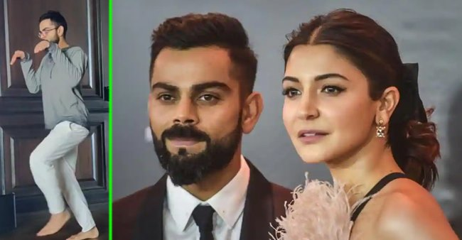 Anushka uploads a hilarious 'dinosaur video' of Virat, Nagpur cops reply her back with a funny twist