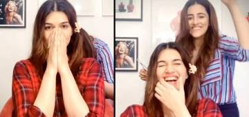 Kriti Sanon's Sissy Nupur Provides Her A New Look, Actress Says 'Baal Baal Bach Gaye'