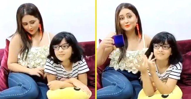 Rashami Desai Asks Niece For An Outing Singing 'Aksa Beach Ghuma Du', Bhavya Says 'Lockdown Hai Ghar Pe Raho'