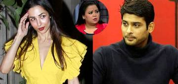 Throwback video of Sidharth Shukla blowing a kiss to Malaika Arora while stand-up comedian Bharti Singh gives a priceless expression