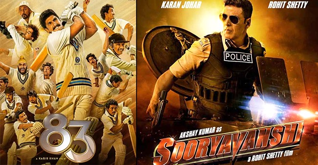 Much awaited films Sooryavanshi and 83 will release on Diwali and Christmas this year, respectively