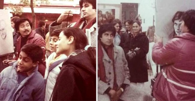 Amitabh Bachchan shares a vintage throwback picture from Paris of 1985