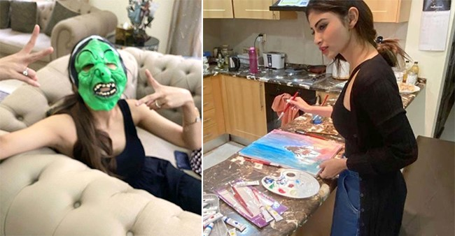 Some Images That Clearly Prove Mouni Roy's Affection Of The Four Walls Around Her