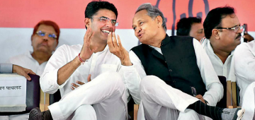 Rajasthan CM Ashok Gehlot calls a meeting at 9 pm, As Dy CM Pilot is in Delhi with his MLAs