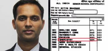 IAS Officer Nitin Sangwan shares Class 12 CBSE mark sheet with 24 in Chemistry