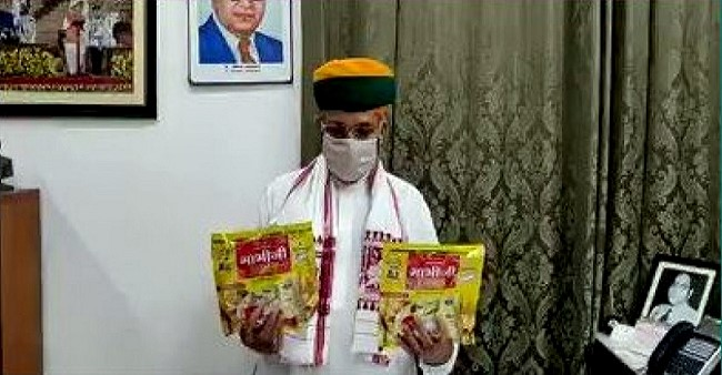 Union Minister Arjun Ram Meghwal launches papad, claims it can cure the pandemic