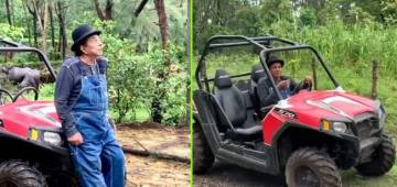 Dharmendra got spotted at his farm again, check out the video