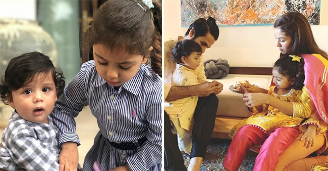 Shahid-Mira's Kids Misha & Zain Celebrate Raksha Bandhan Virtually With Rajput Family