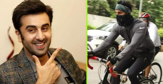Ranbir Kapoor inspires us for fitness as he rides his bicycle on the streets with his friends, see pics