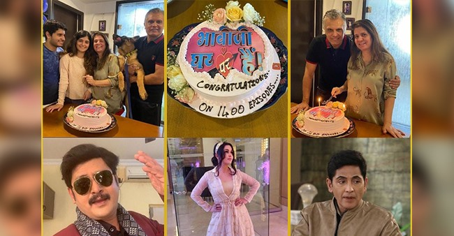 Bhabiji Ghar Par Hain Hits 1400 Episodes Mark, Show Makers Sanjay & Binaiferr Host A Celebration On Sets