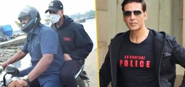 Akki Rides On Bike & Jetty Instead Of His Luxurious Car To Reach Work In Time