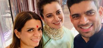 Kangana's Ancestral House Is Drowned In Wedding Festivities; Shares Glimpse Of Cousin's 'Haldi' Ceremony