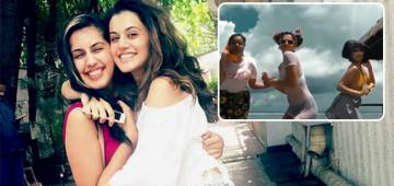 Taapsee Not Just Filmed A Funny Video But Also Made Her Link With Beau Mathias Insta Official