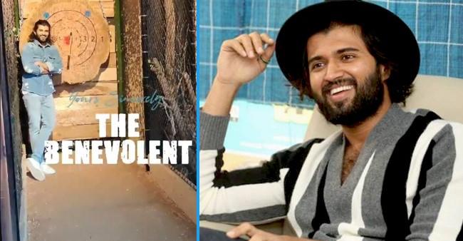 Vijay Deverakonda Enjoying His Happy Escape, Shares Video While Playing Dartboard Game