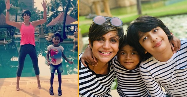 Mandira Bedi's Daughter Tara Tries To Learn Her Mommy's Fitness Routine; Elated Mom Shares Video