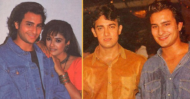 Throwback: Saif's Dialogue Delivery While Filming Parampara Made Neelam, Raveena & Aamir Laugh