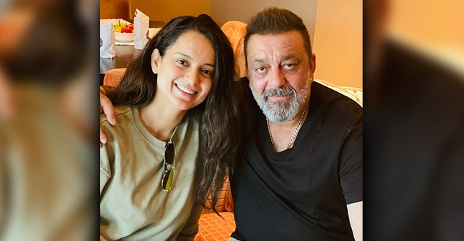 Kangana Tweets A Pic With 'Sanju' As She Meets Actor In Hyderabad; Says 'Looks Healthy & Handsome'