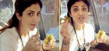 Shilpa Shares A Video Showing Her Enjoying Vada Pao In Car; Says 'Sunday Hai Toh Khao Khao'