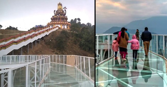 India's First Glass Skywalk Came Up At Chenrezig Buddhist Pilgrim Site In Sikkim's Pelling