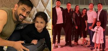 MS Dhoni's Daughter Ziva Looked Grumpy About Something While Posing With Her Parents' Friends