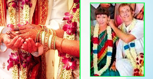 Swiss groom and French-German bride tie the knot in desi style