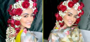 Sana Khan shares a glimpse of her beautiful sehra, which she forgot to order on her wedding