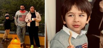 Taimur & Daddy Saif Wore The Same Grey Pullover In Pics Shared By Bebo