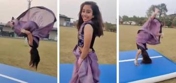 Doing flips in a saree, Parul Arora runs the internet