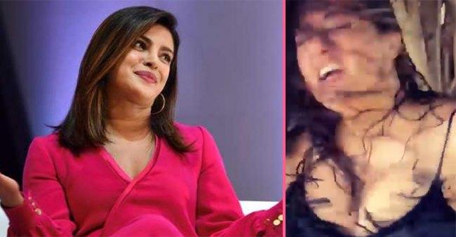 "Priyanka Chopra shared a video of Salman Hayek, captioned ""Half way through today's press junket MOOD."""