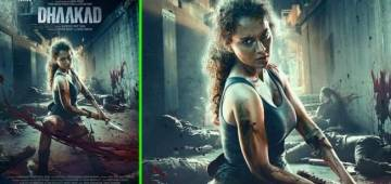 Kangana Ranaut shared a poster of her wild look for the upcoming movie