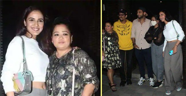 Evicted BB14's Contender Jasmin Bhasin Enjoys A Night Out With Bharti, Punit & Their Spouses