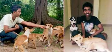 This young animal activist feeds 300 dogs in a day, wants to build shelter for them