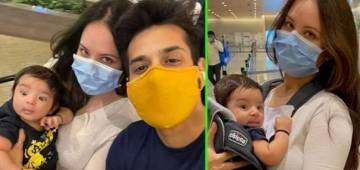 Puja Banerjee shares pictures of her baby boy, Krishiv's first ever outing, have a look