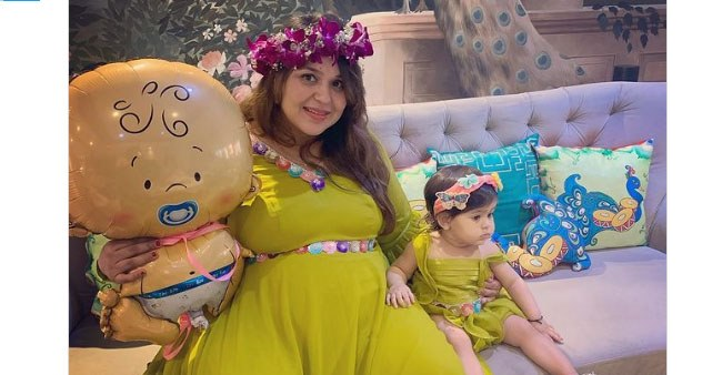 Baby Shower Pictures Of Ginni Chatrath Go Viral On Social Media; Preggers Twinned With Her Daughter Anayra For The Occasion