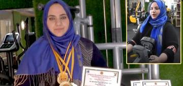 Being a young mom, Saima Ubaid is now Kashmir's first woman power-lifter to pull up 255 kgs of weight