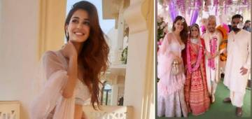 Disha Patani Slays In Traditional Outfit As She Attends A Friend's Wedding Ceremony