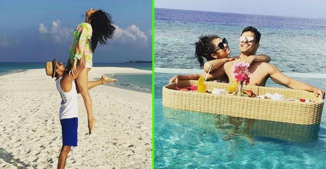 Drashti Dhami celebrates 6th wedding anniversary in Maldives, gives glimpse of vacation with hubby Niraj Khemka