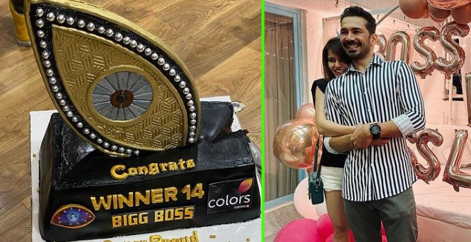 Bigg Boss 14 Winner Rubina Dilaik Receives A Warm Welcome From Husband Abhinav Shukla; Her Homecoming Pictures Go Viral