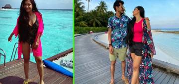 Dhanashree Verma Dons A Floral Swimsuit During Her Honeymoon In Maldives; Leaves Her Fans Gushing