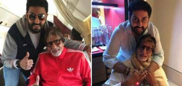 Unseen Picture of Big B With Jr Bachchan States That He Is The Best Dad