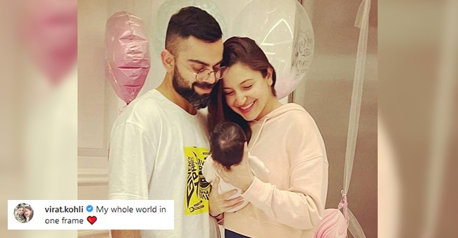 New Daddy Virat's Reaction On Wifey Anushka's Pic With Baby Vamika: My Whole World In One Frame
