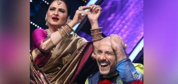 Rekha Graces The Stage Of Indian Idol 12 and Sneak Attacks Vishal Dadlani; Singer Shares Pictures