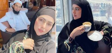Sana Khan Gorges On Some Mouth-Watering Breakfast With Hubby Mufti Anas At Burj Khalifa