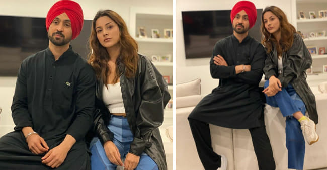 Shehnaaz Gill Wraps Up Filming For Upcoming Venture Honsla Rakh; Shares Candid Pics With Co-Star Diljit Dosanjh